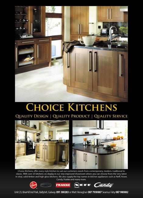 Colm Brennan Portfolio Choice Kitchens Advert Galwaynow Magazine